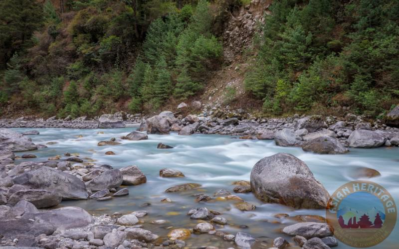 Beautiful river on the way