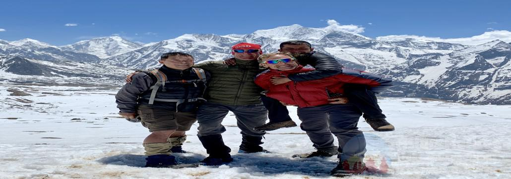 Rohit- Tour Guide with Guests in EBC